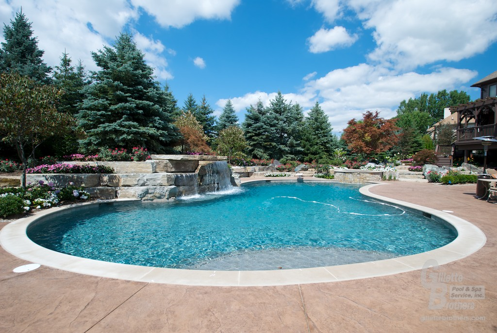 Outdoor Pools outdoor pools : gillette brothers pool & spa